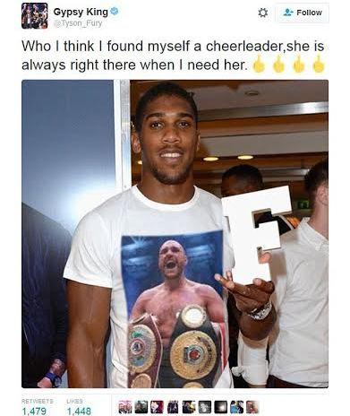 Heavyweight champion Tyson Fury throws shade at Anthony Joshua