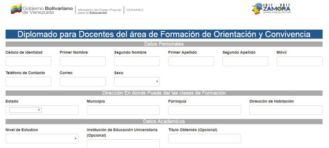Inscripciones abiertas para el Diplomado para Docentes del área de Formación de Orientación y Convivencia