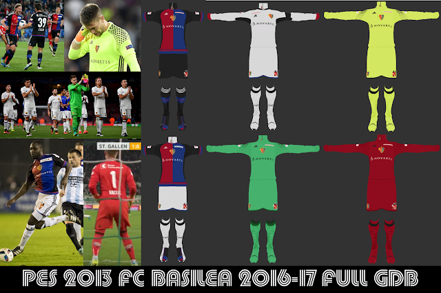 PES 2013 FC Basel 2016-17 Full GDB BY ANTONELLI & ABIEL & VULCANZERO & DEADPOOL