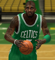 Download NBA 2K13 Kevin Garnett Cyber Face with Beard Mod