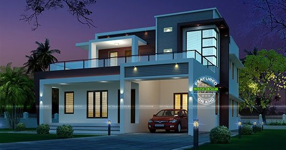 245 Sq M Modern Home Night View Kerala Home Design And