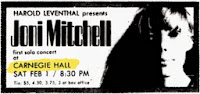 Joni Mitchell Carnegie Hall 1969