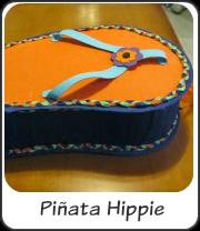 Piñata para fiesta hippie