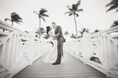 south seas resort bride and groom on the t-dock