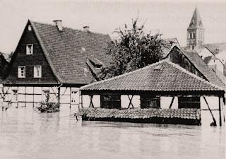 La ciudad de Hagen inundada en 1943