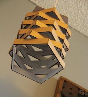 kreasi kardus bekas, lampu hias