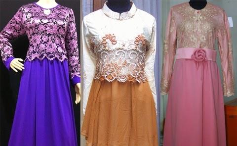model baju gamis brokat orang gemuk