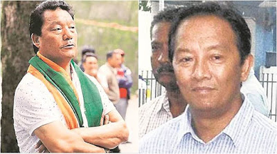 GJM Leaders Bimal Gurung, Binay Tamang