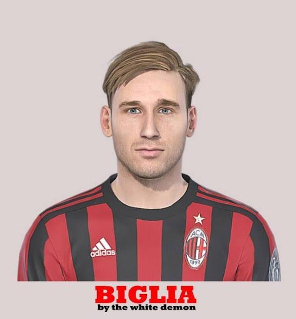 Pes 2019 Faces Lucas Moura By Hugimen: Lucas Biglia Face (A.C. Milan)