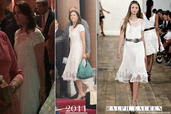 Crown Princess Mary wore Ralph Lauren dress