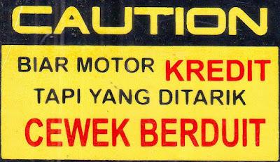 Stiker Unik dan Lucu pada Motor Tema Kereditan