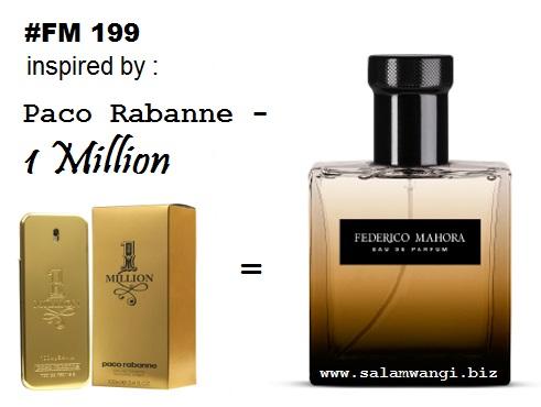 parfum fm 199, parfum original murah, parfum paco rabanne 1 million