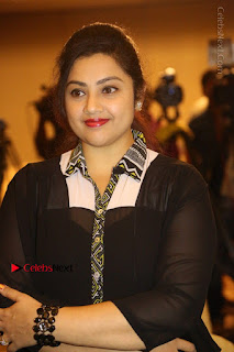 Tamil Actress Meena Latest Stills in Black Dress at TSR TV9 Awards Press Meet  0071.JPG