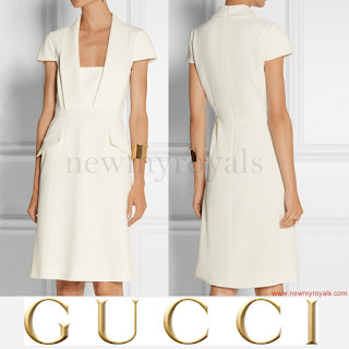 Queen Maxima wars Gucci dress