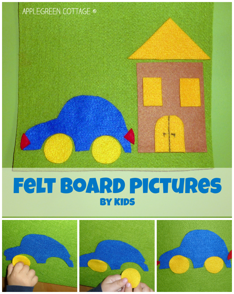 Felt board pictures - DIY kids activities