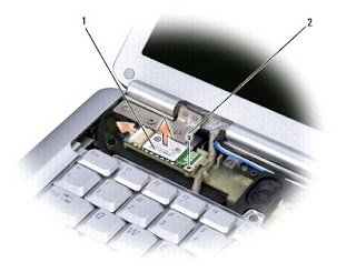 Removing the Internal Card With Bluetooth® Wireless Technology