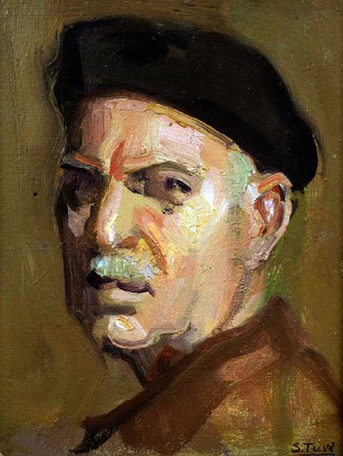Salvador Tuset Tuset, Pintor Valenciano, Retratos de Salvador Tusset,Pintores Valencianos, Autorretrato de Salvador tusset