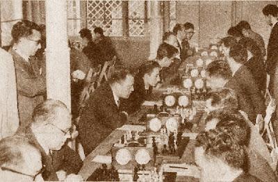 Fiesta Provincial del Ajedrez de 1959, sala de juego
