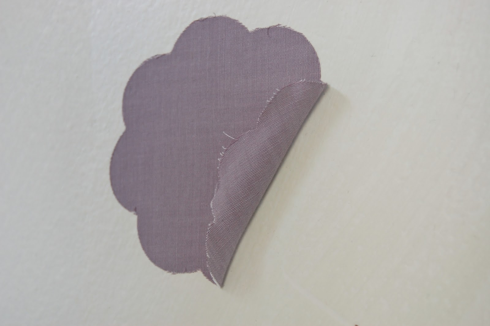 """DIY Fabric """"Wallpaper"""" and Fabric Wall Decals"""