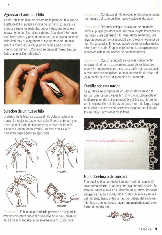 revista de curso básico de cómo tejer frivolité