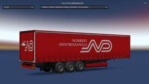 Norbert Dentressangle Profiliner Trailer
