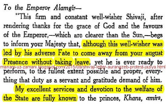 Image result for shivaji letter to aurangzeb