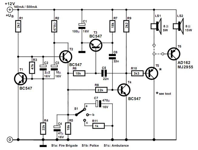 fire engine siren wiring diagram