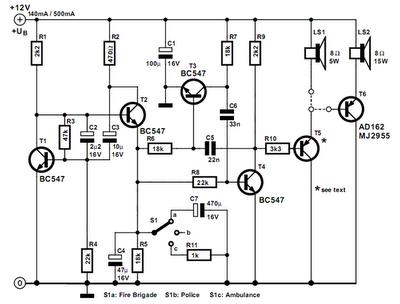 Simple US-Style Siren-Circuit Diagram