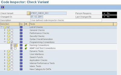 Creating code inspector Check Variant for client specific naming conventions