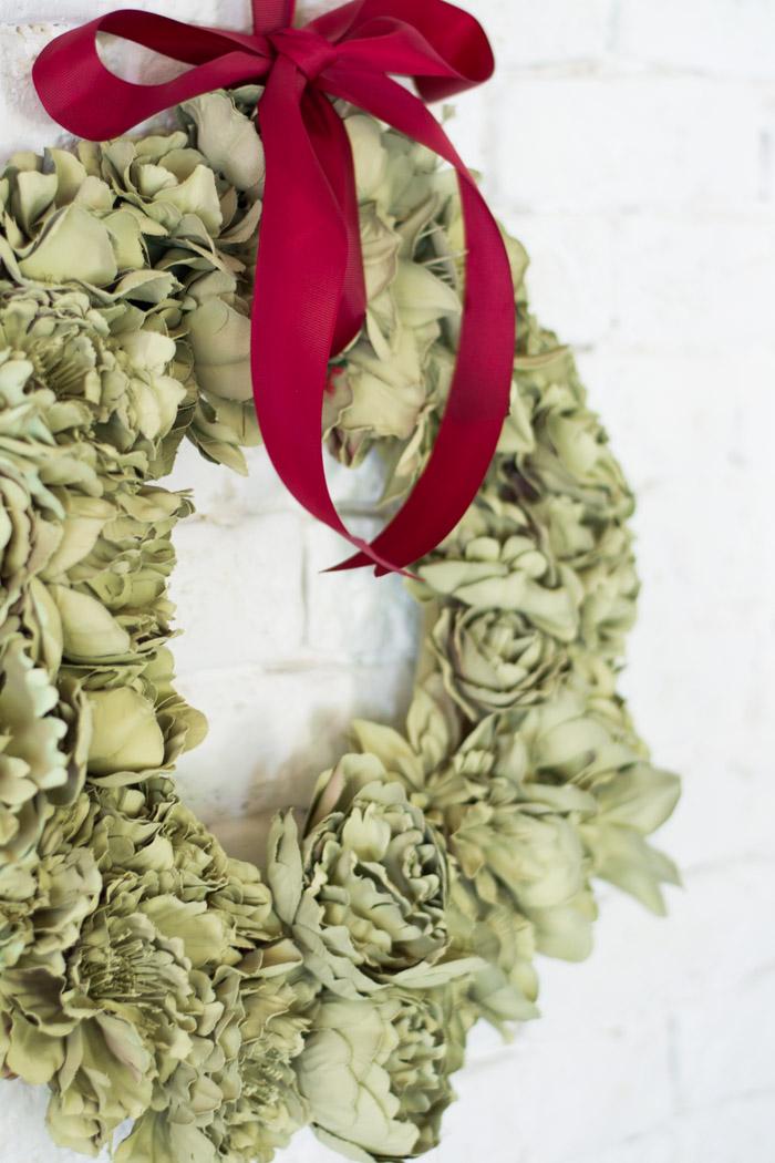 Corona Navidad Flores