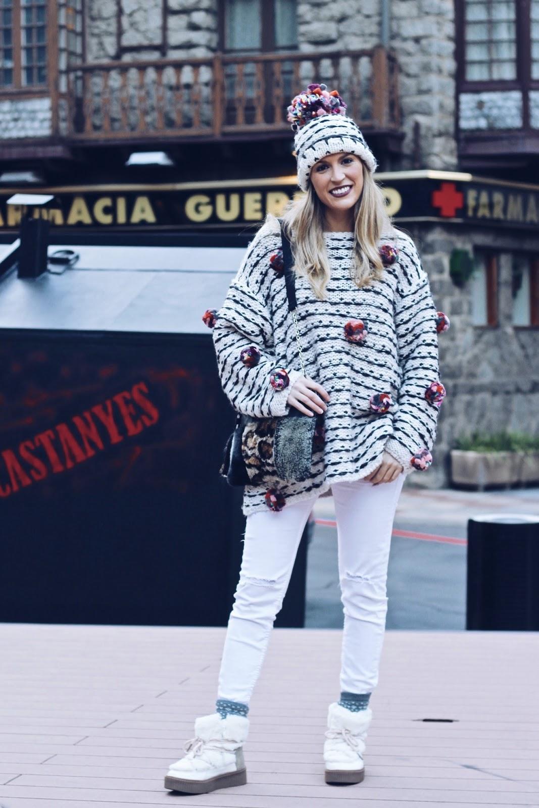 pantalones blancos en invierno