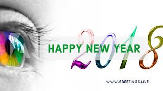 Beautiful creative new year 2018 wishes