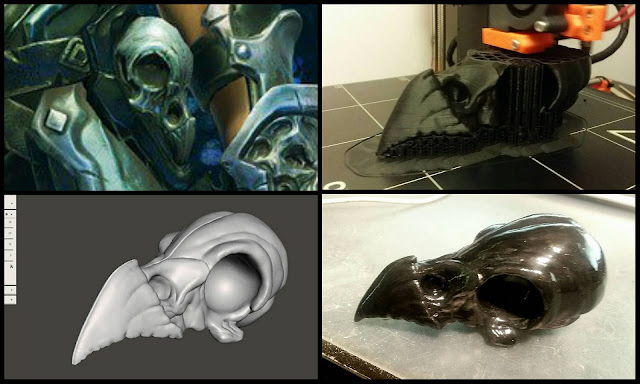 3D printing with PLA – printing, sanding, smoothing, glueing
