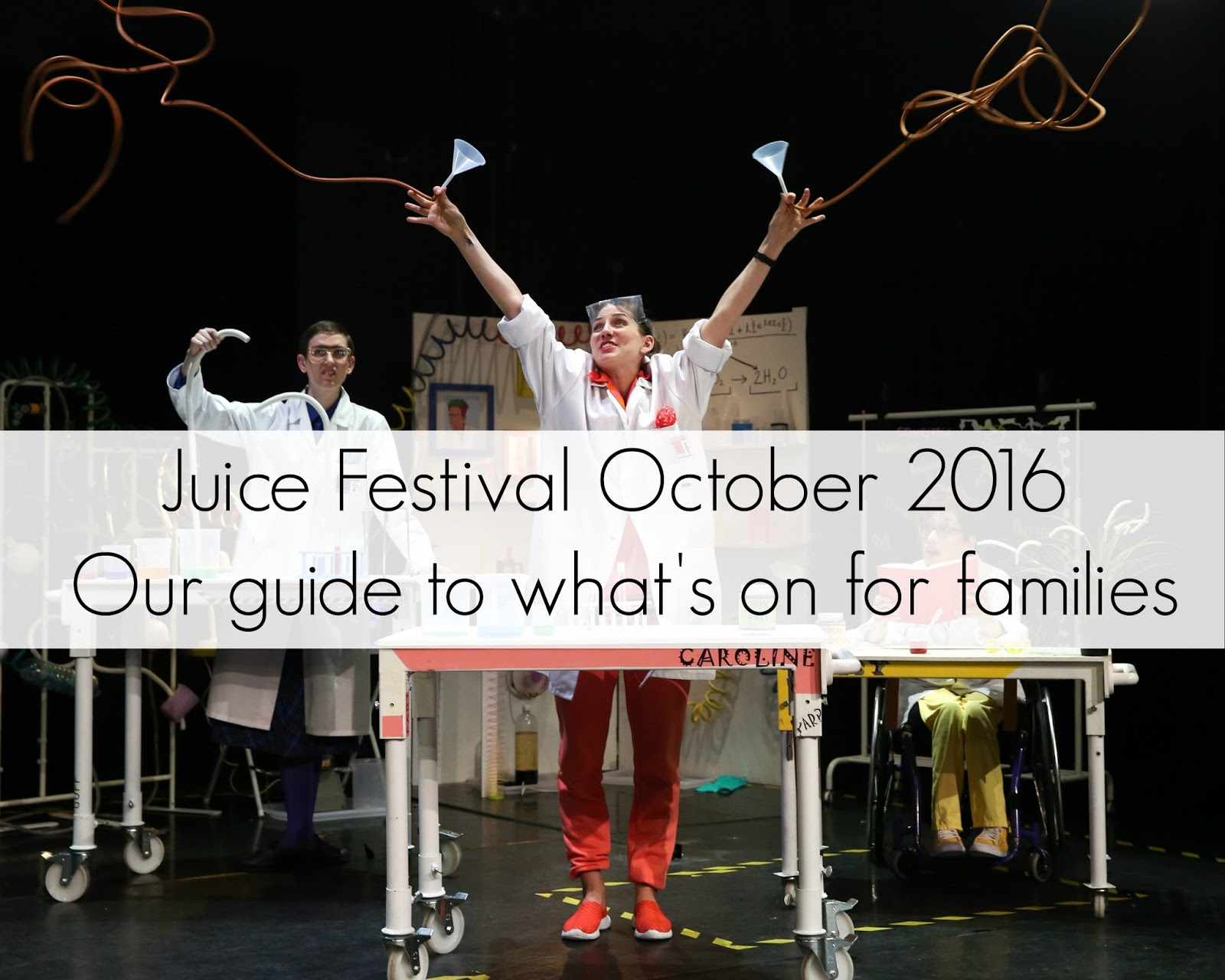 The ULTIMATE guide to what's on at Juice Festival for families | October Half Term