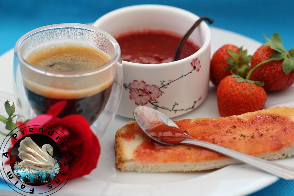 Confiture de fraises à la vanille