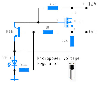 Micropower Voltage Regulator Circuit Schematic