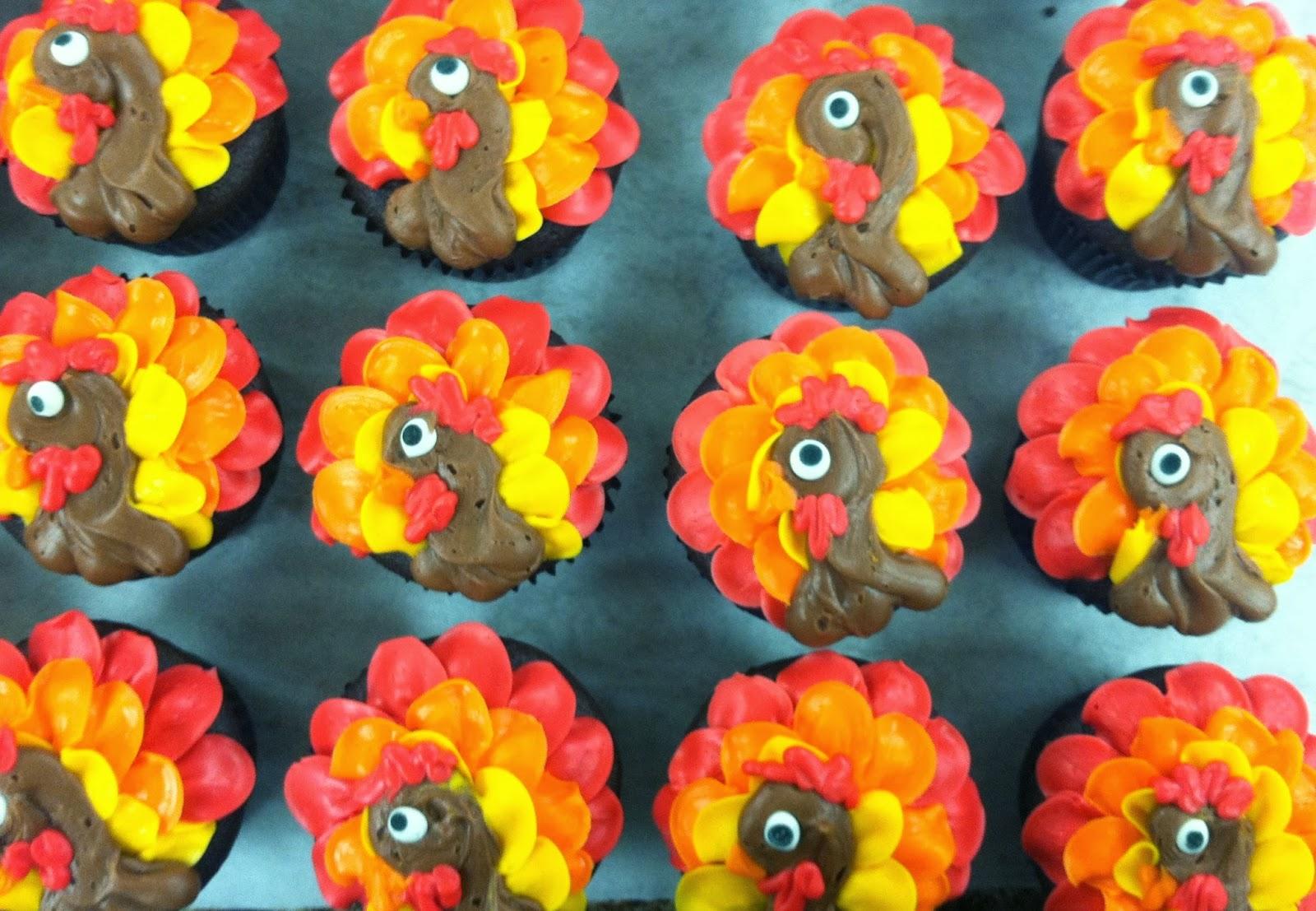Gobble Gobble Turkey Cupcakes
