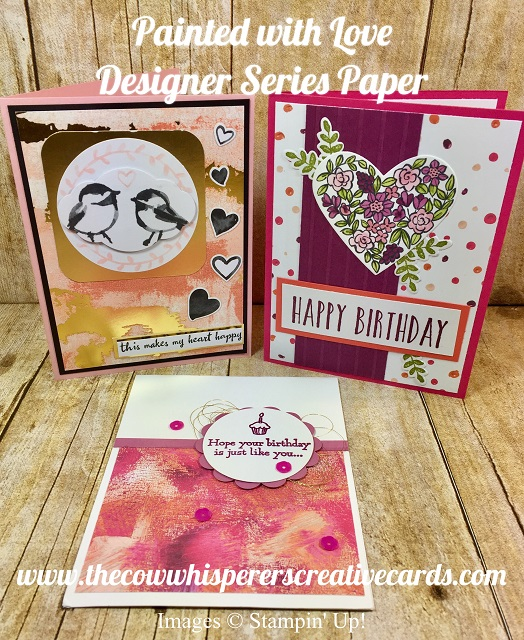 Card, Painted with Love Designer Series Paper, Stampin UP