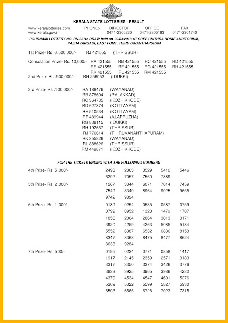 Kerala Lottery 29.04.2018 Pournami RN 337 Lottery Results Official PDF keralaLotteriesresults.in-page-001