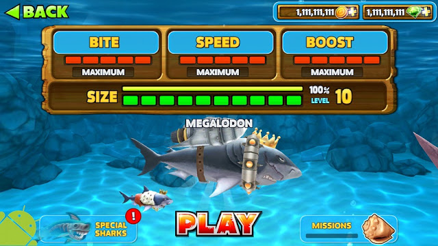 جائع القرش وزارة الدفاع APK الحرة لعبة تطور تنزيل