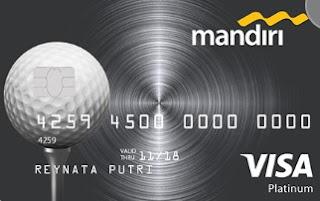 Design kartu kredit Mandiri Golf Platinum
