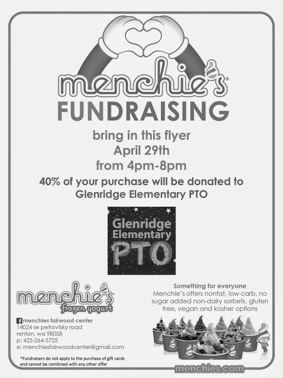 Glenridge PTO: Glenridge Menchie's Night*