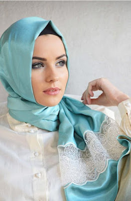 Foulard Hijab avec Dentelle Turque