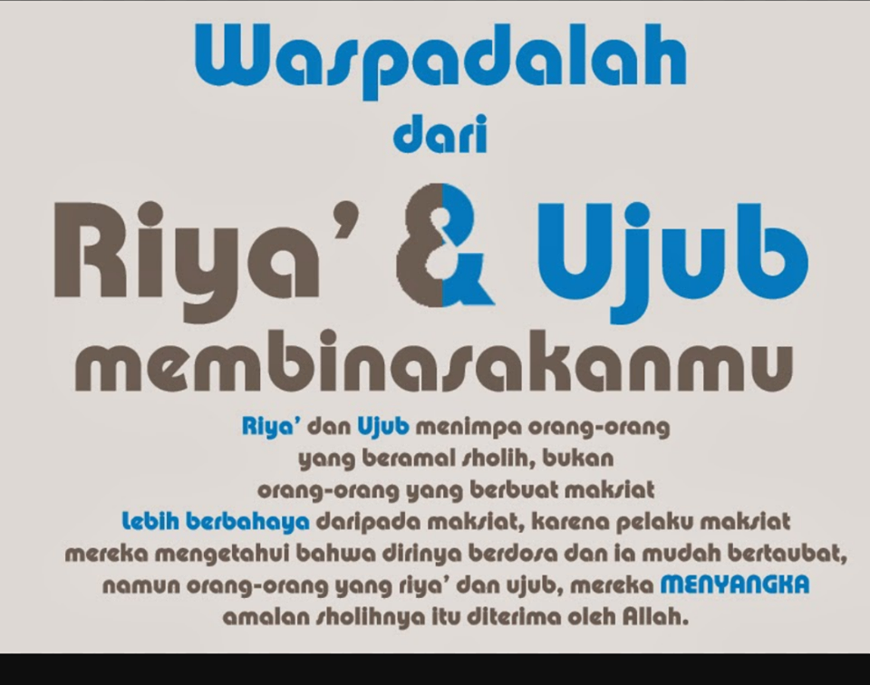 650 Koleksi Gambar Kata Bijak Riya HD Terbaik