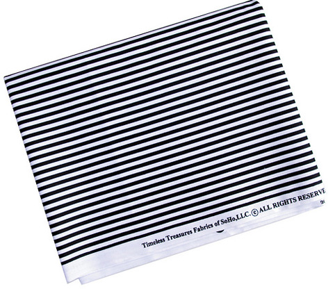 Timeless Treasures - black white stripe fabric