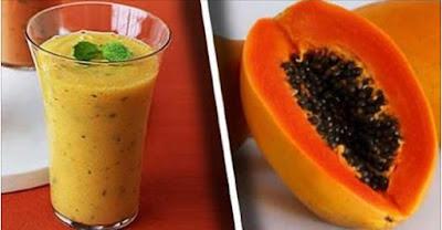 licuado de papaya para desinflamar el vientre