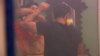 Charu Asopa in Saree Choli ghagra 2.jpg
