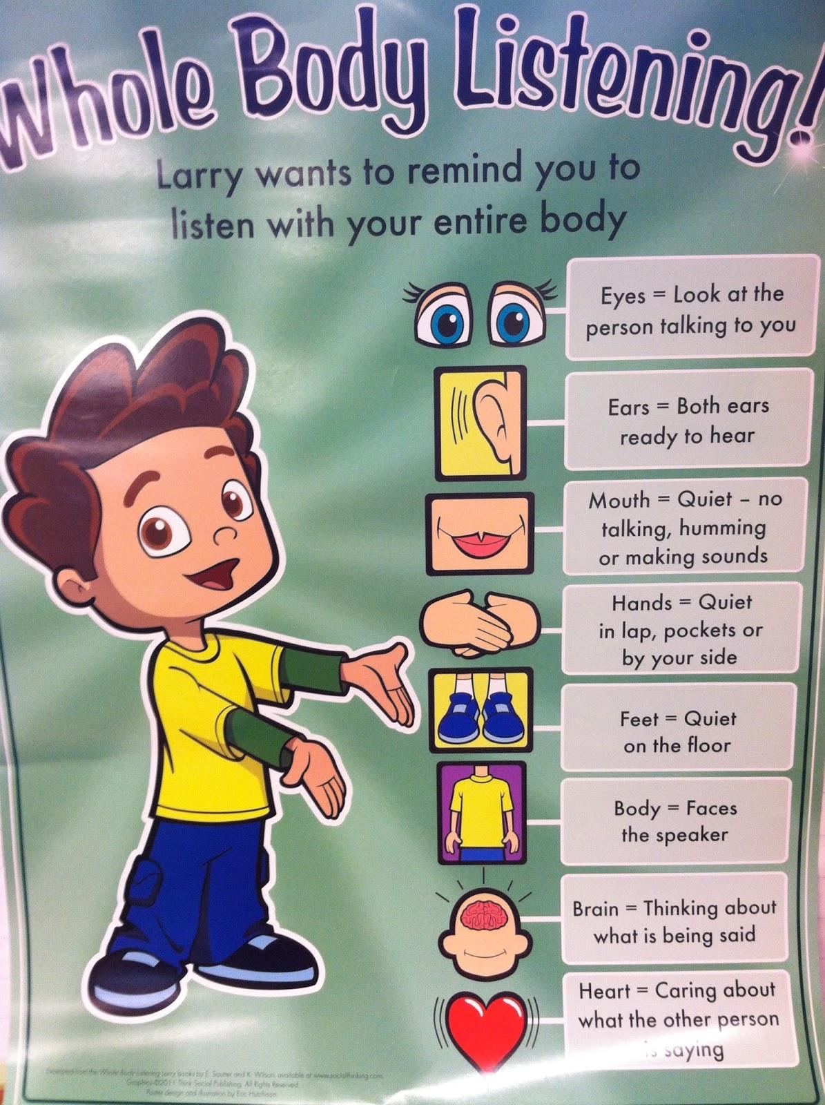 Goddard Kindergarten Rocks Listening Larry