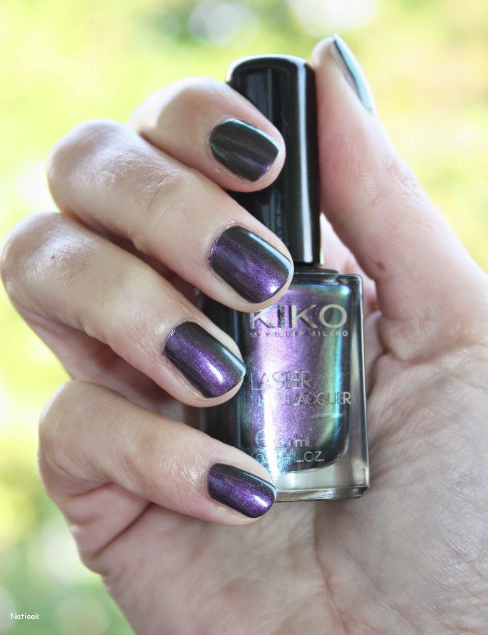 "Vernis à ongles Kiko laser 433 ""Gothic Purple"""