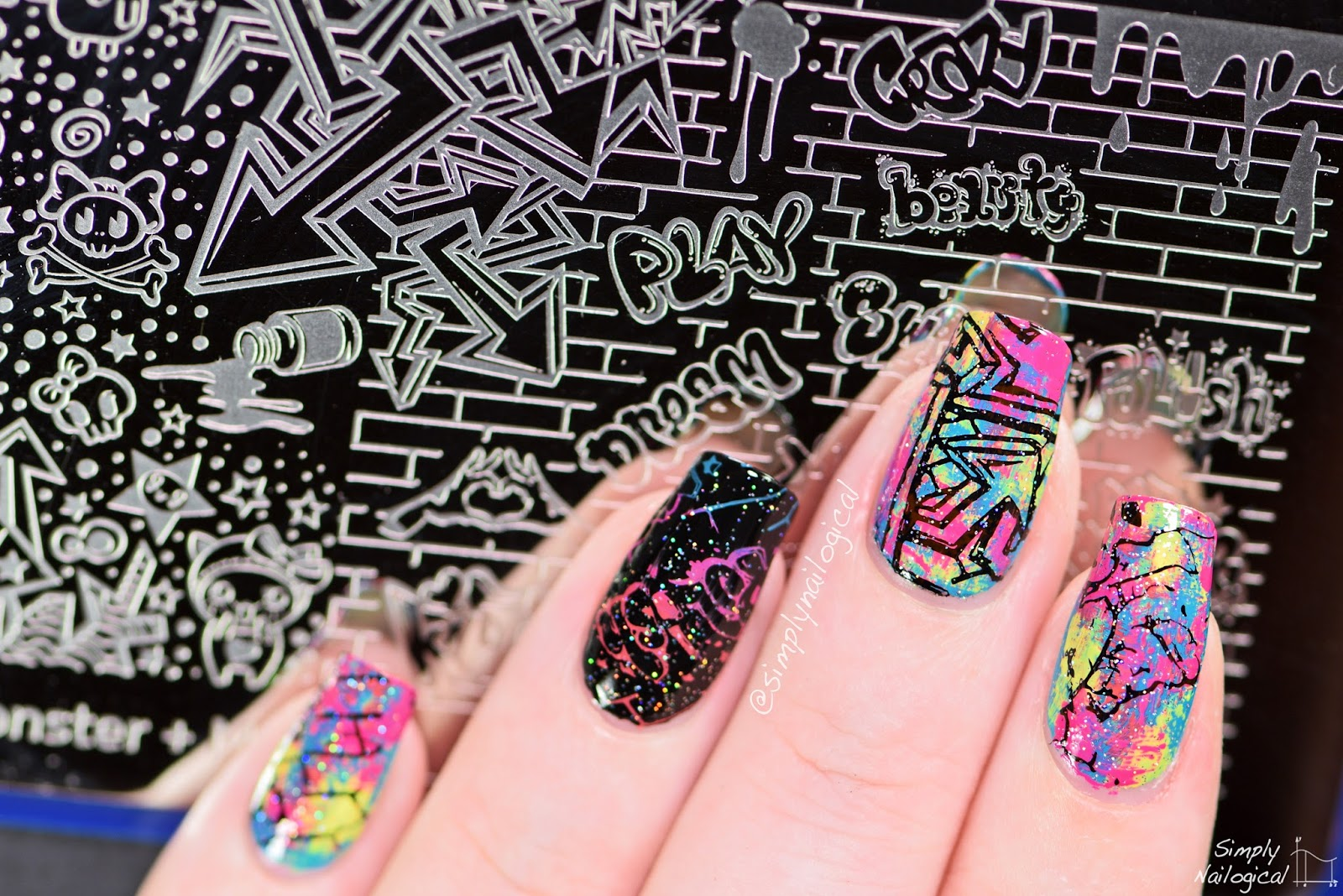 Simply Nailogical: Giant Mochi stamper nails!